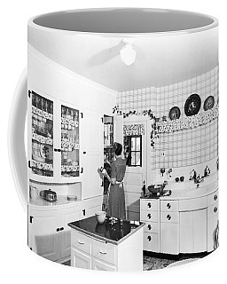 Woman Cooking In Her Kitchen Coffee Mug