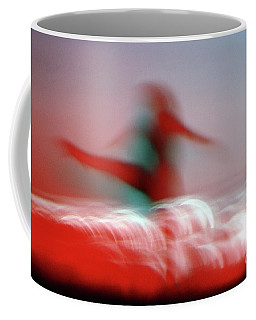 Woman Dancing In Flying Stance Coffee Mug