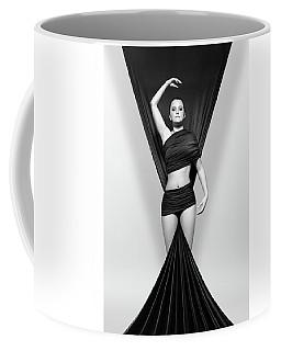 Woman Draped In Black Cloth Coffee Mug