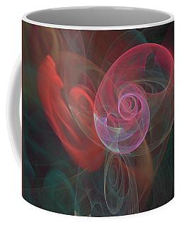 Woman Heart With Moon Shell Coffee Mug