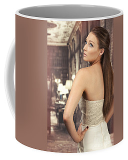 Woman In Drawing Room Coffee Mug