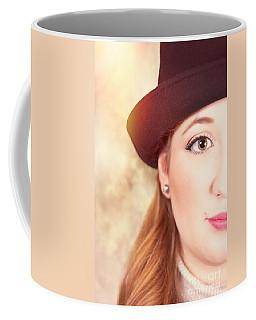 Woman In Hat Coffee Mug