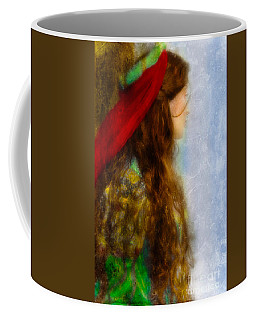Woman In Medieval Gown Coffee Mug