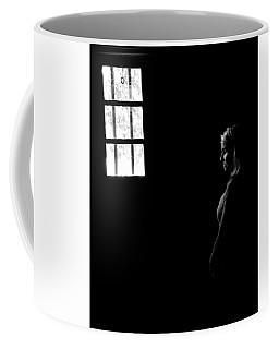 Woman In The Dark Room Coffee Mug