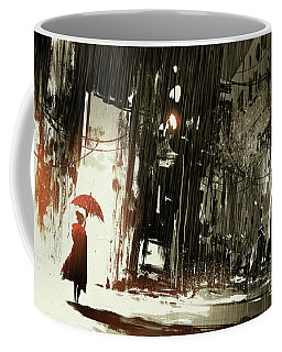 Woman In The Destroyed City Coffee Mug