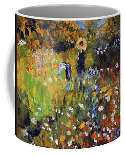 Woman In The Garden After Renoir Coffee Mug