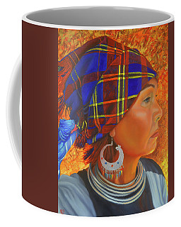 Woman In The Shadow Coffee Mug