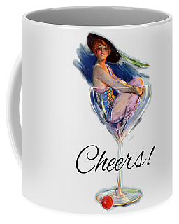 Coffee Mug featuring the digital art Woman In Wine Glass by Robert G Kernodle