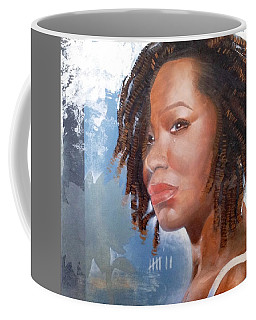 Coffee Mug featuring the painting Woman Of Magdala by Christopher Marion Thomas