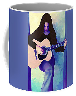 Woman Playing Guitar Coffee Mug