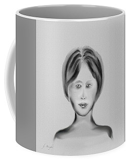 Coffee Mug featuring the digital art French Woman 4 by Frank Bright