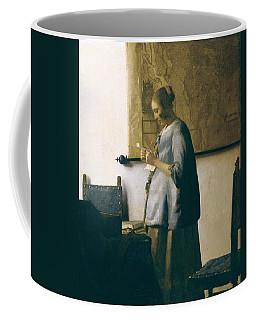 Woman Reading A Letter Coffee Mug