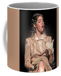 Woman Talking Coffee Mug