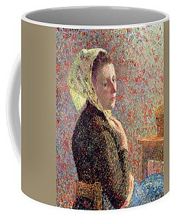 Woman Wearing A Green Headscarf Coffee Mug