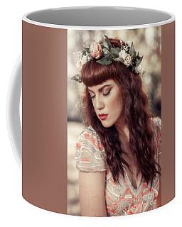 Woman Wearing Floral Crown Coffee Mug