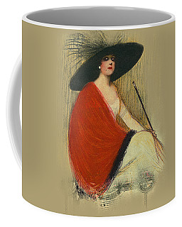 Woman Wearing Hat Coffee Mug