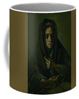 Coffee Mug featuring the painting Woman With A Mourning Shawl Nuenen, March - May 1885 Vincent Van Gogh 1853 - 1890 by Artistic Panda
