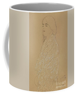 Woman With A White Shawl  Coffee Mug