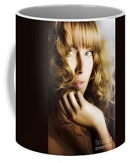 Woman With Beautiful Wavy Hair Coffee Mug