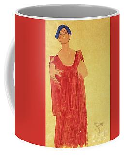 Woman With Blue Hair Coffee Mug