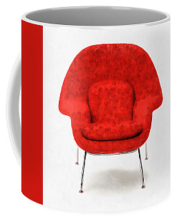 Womb Chair Mid Century Modern Coffee Mug by Edward Fielding