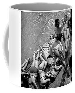 Women In Bikini Tanning At Deligny Swimming Pool In Paris, July 1946 Coffee Mug