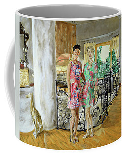 Women In Sunroom Coffee Mug