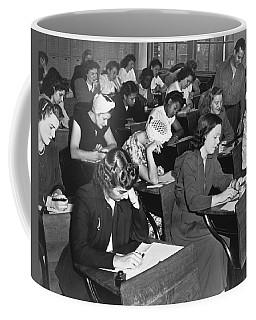 Women Taking Police Exam Coffee Mug