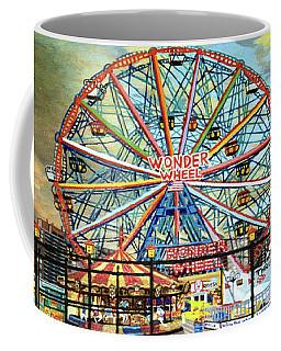 Wonder Wheel Image For Towel Coffee Mug