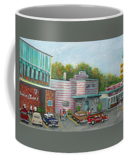 Coffee Mug featuring the painting Wonderful Memories Of The Wal-lex by Rita Brown