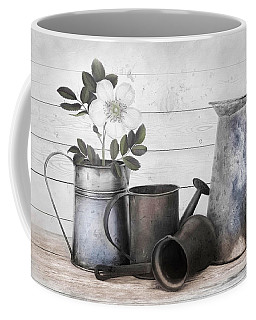 Coffee Mug featuring the photograph Wood And Patina by Robin-Lee Vieira