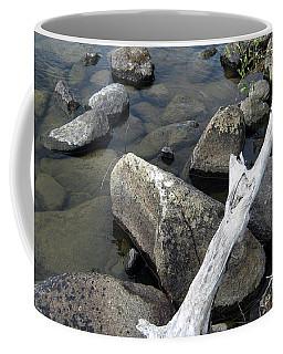 Wood And Rocks In Water Coffee Mug