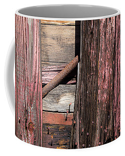 Coffee Mug featuring the photograph Wood And Rod by Karol Livote