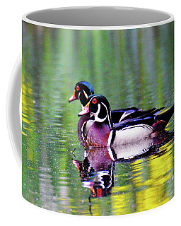 Wood Duck Bookends Coffee Mug by Kathy Kelly