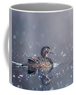 Coffee Mug featuring the photograph Wood Duck Hen by Bill Wakeley