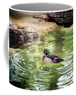 Wood Duck On Emerald Pond Coffee Mug