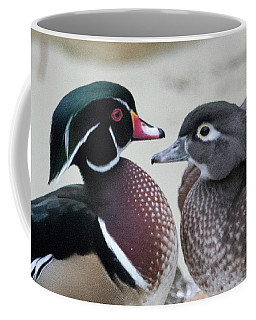 Wood Duck Pair In Love Coffee Mug