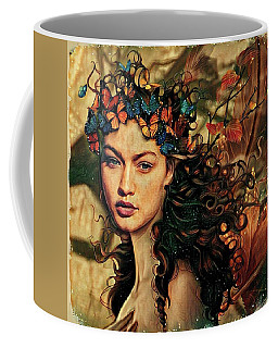 Wood Nymph With Butterfles Coffee Mug