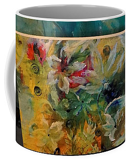 Coffee Mug featuring the painting Wood Print Wrapping Paper Express by Lisa Kaiser