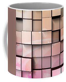 Coffee Mug featuring the digital art Wood Wall In Pink by Kathy Kelly