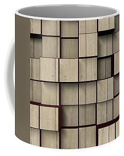 Coffee Mug featuring the digital art Wood Wall Shelving by Kathy Kelly