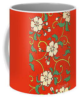 Woodblock Print Of Apple Blossoms Coffee Mug
