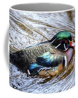 Woodduck Portrait Coffee Mug by Ronda Ryan