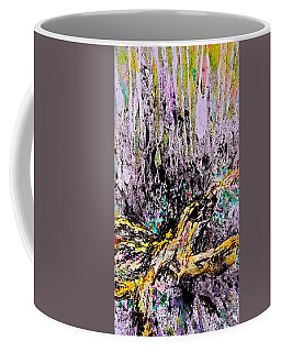 Coffee Mug featuring the painting Wooded Growth by Carolyn Rosenberger
