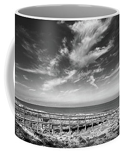 Wooden Bridge To The Sea Coffee Mug