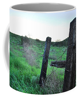 Coffee Mug featuring the photograph Wooden Gate In Field by Matt Harang