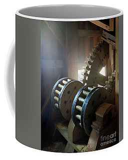 Wooden Gear Train Coffee Mug
