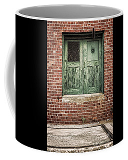 Wooden Green Doors  Coffee Mug