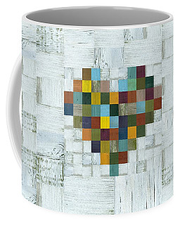 Coffee Mug featuring the digital art Wooden Heart 2.0 by Michelle Calkins