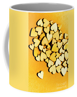 Wooden Hearts With Sentimental Single Coffee Mug